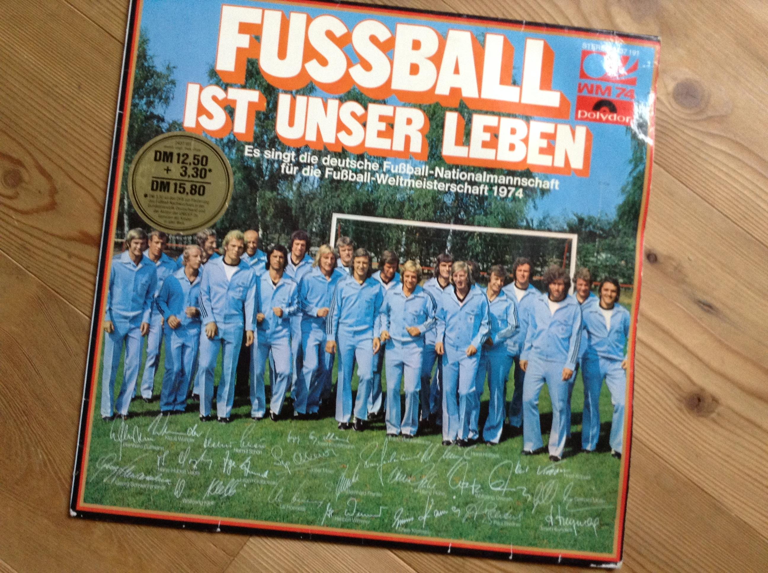 Fussball Ist Unser Leben Spieler Singen Vinyl Fans De